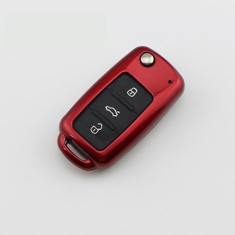 Funda para llave, funda para llave para Volkswagen VW, nuevo LAVIDA , Bora, Sagitar, polo, Golf 6, Passat, Tiguan key