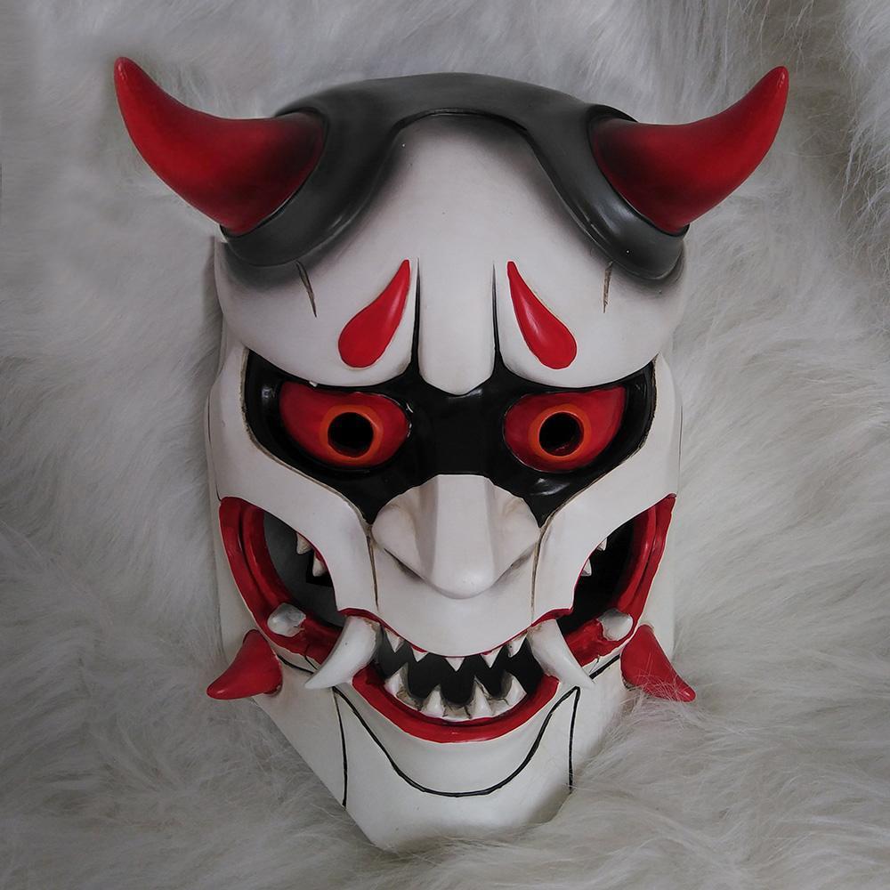 Genji Overwatch piel Oni máscara Cosplay