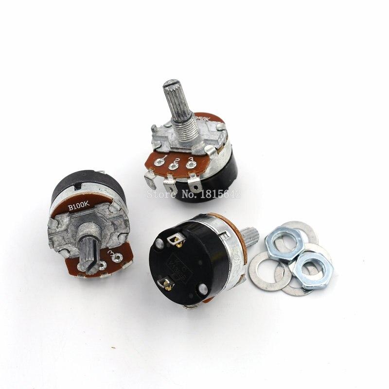 Regulador de velocidad de resistencia ajustable, 5 uds./lote WH138-1 B100K con potenciómetro de conmutación WH138 100K