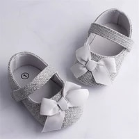 emmababy infant baby girl shoes bowknot anti slip soft sole hook first walkers toddler infant baby girl kids shoes 0 18m 3 color