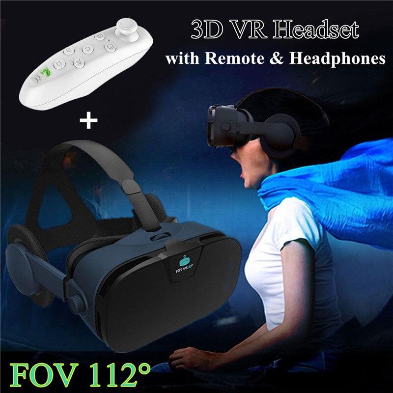 Gafas-3D vr óculos fone de ouvido com controlador capacete óculos de realidade virtual para o iphone x lg sony xiaomi assista filme 3d vídeo