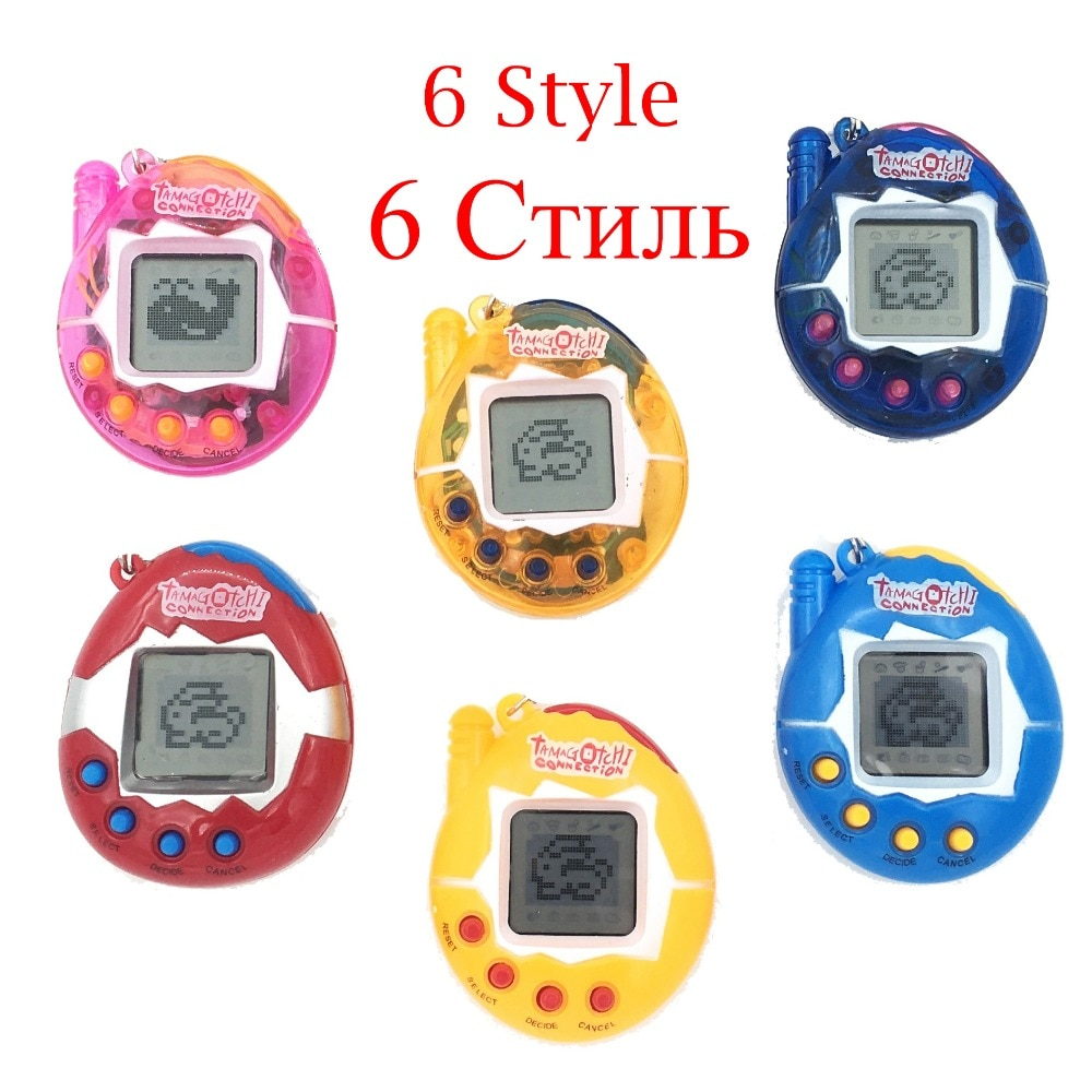 Hot ! Tamagotchi Electronic Pets Toys 90S Nostalgic 49 Pets in One Virtual Cyber Pet Toy 6 Style Tam