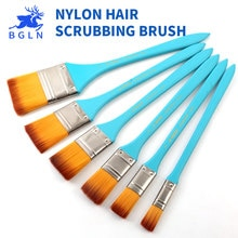 BGLN Nylon Flat Head Scrubbing Painting Brush Acrylic Painting Brush Oil Paint Wall Painting Brush Art Supplies
