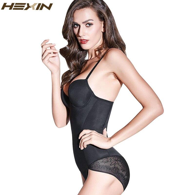 HEXIN, Body de encaje Sexy, modelador de Cuerpo Adelgazante, sujetador de realce, Control de barriga, Abdomen, ropa moldeadora ajustable de grasa