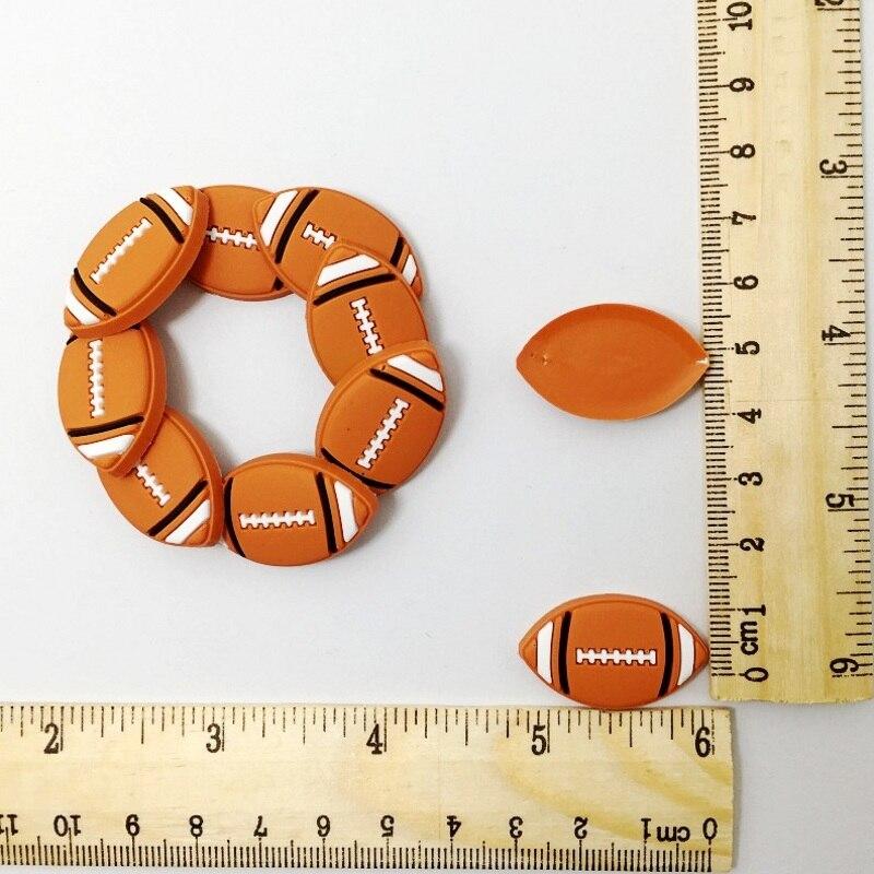 10 Uds. Logo de bolas reverso plano suave PVC DIY artesanía decoración broche/llavero/marcador/Marco de gafas/anillos/enrollador de Cable