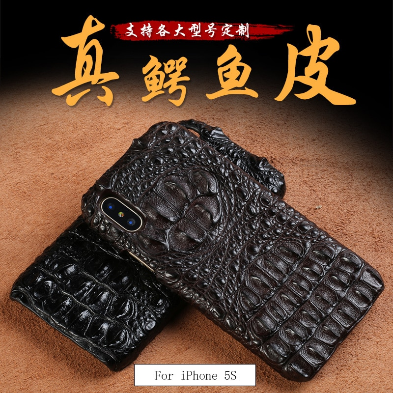 LANGSIDI Genuine crocodile leather 3 kinds of styles  Half pack phone case For iphone 11 SE 2020 can customize the model