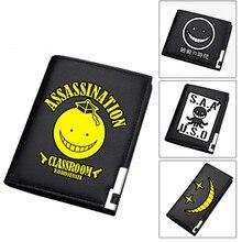 2019 Assassination Classroom Print Unisex Short Wallet Cartoon Women Long Purse Pu Leather Wallet Anime Card Holders Money Bag