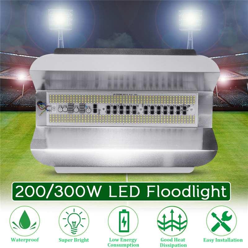 Holofote de led para piscina, 200/300w, luz de parede para projetor, à prova dágua, de alta potência, para áreas externas, AC180-260V