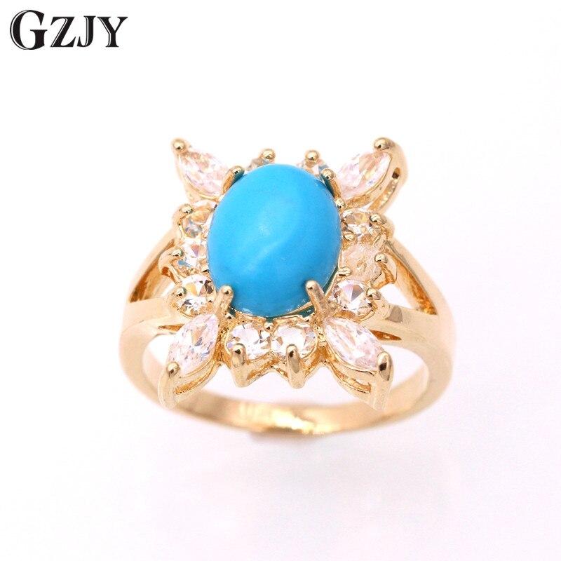 GZJY модные Амулеты с синим камнем кулон AAA циркон Золотой Цвет Ожерелье Подвеска для женщин подарок любви
