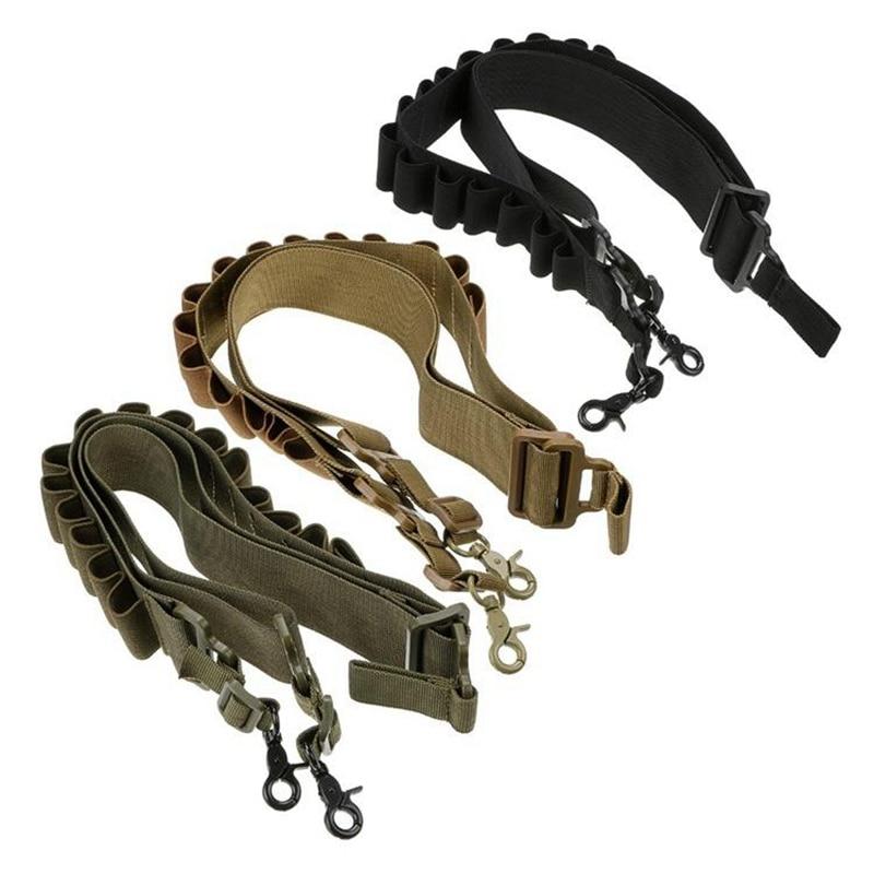 Outdoor Airsoft Hunting Tactical 15 Shotgun Shell Bandolier Belt 12 Gauge Ammo Holder Military Shotgun Cartridge Belt