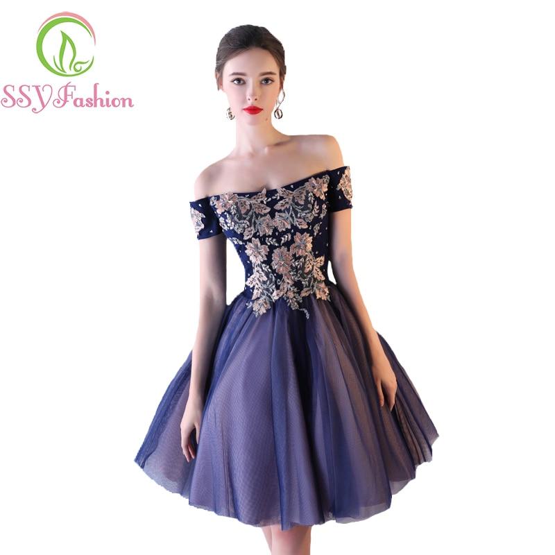 فستان سهرة جديد أنيق, فستان سهرة جديد أنيق باللون الأزرق الداكن مزين بالخرز بتصميم على شكل حرف a ، مناسب للحفلات الرسمية