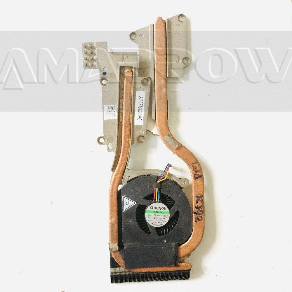 Original free shipping For DELL laptop heatsink cooling fan cpu cooler E6520 CPU heatsink 09HYXD