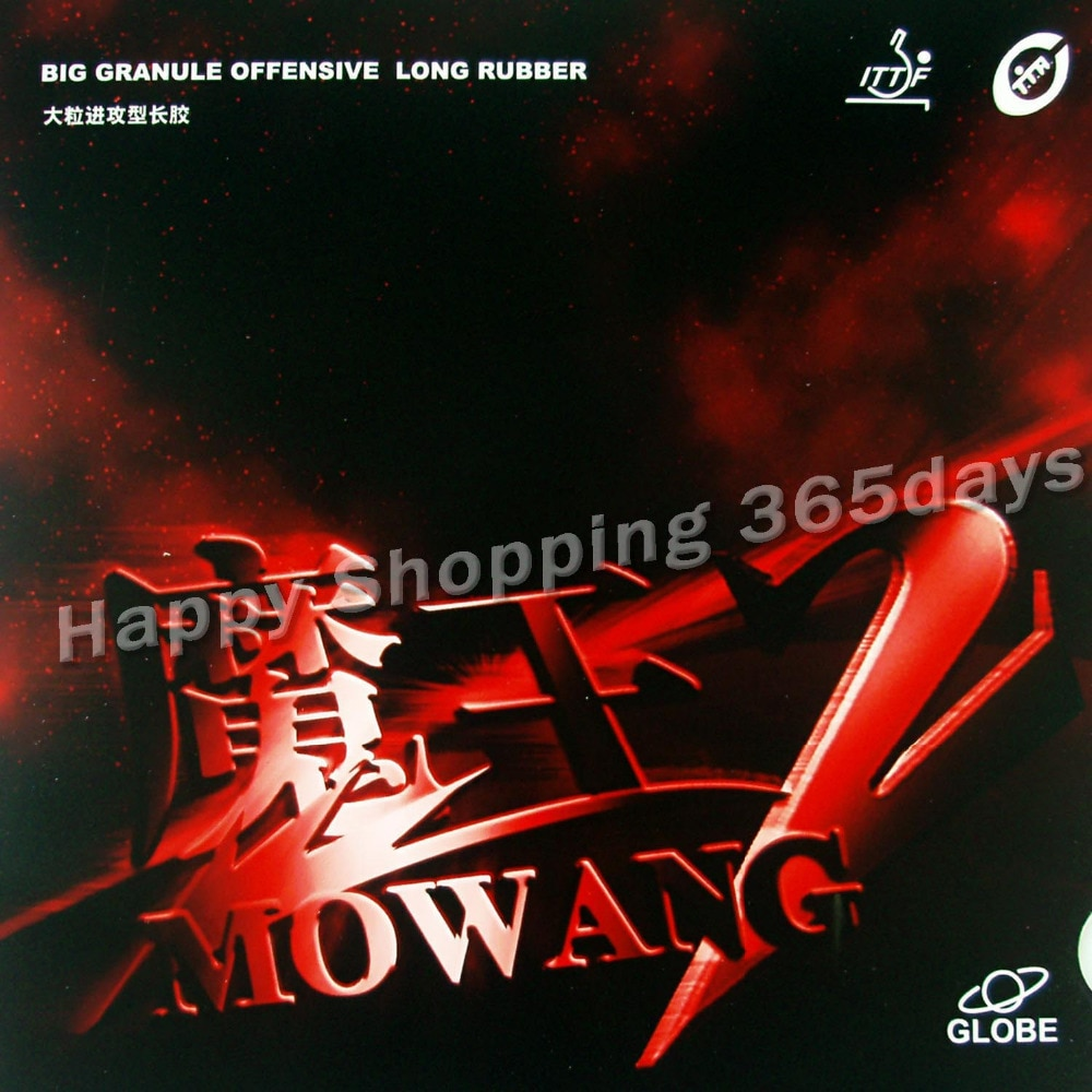 Globe MOWANG II ( MOWANG 2 ) long pips out table tennis rubber without sponge top sheet OX