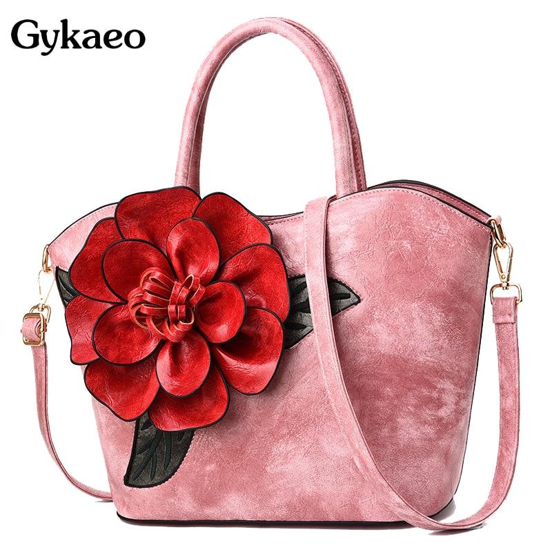 Gykaeo designer bolsas de alta qualidade do vintage flor tote bolsas femininas marcas famosas grande capacidade saco de compras ombro