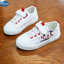 Enfants rouge dessin animé Mickey chaussures décontractées Disney filles princesse doux pu mignon garçons chaussures de sport pour enfant cadeau Europe taille 25-36
