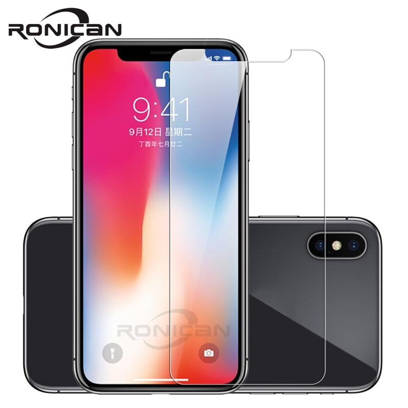Tempered Glass for iPhone X XS Max XR Screen Protector for iPhone 6 6s 7 8 Plus 5 5S SE 4s Glass Fil
