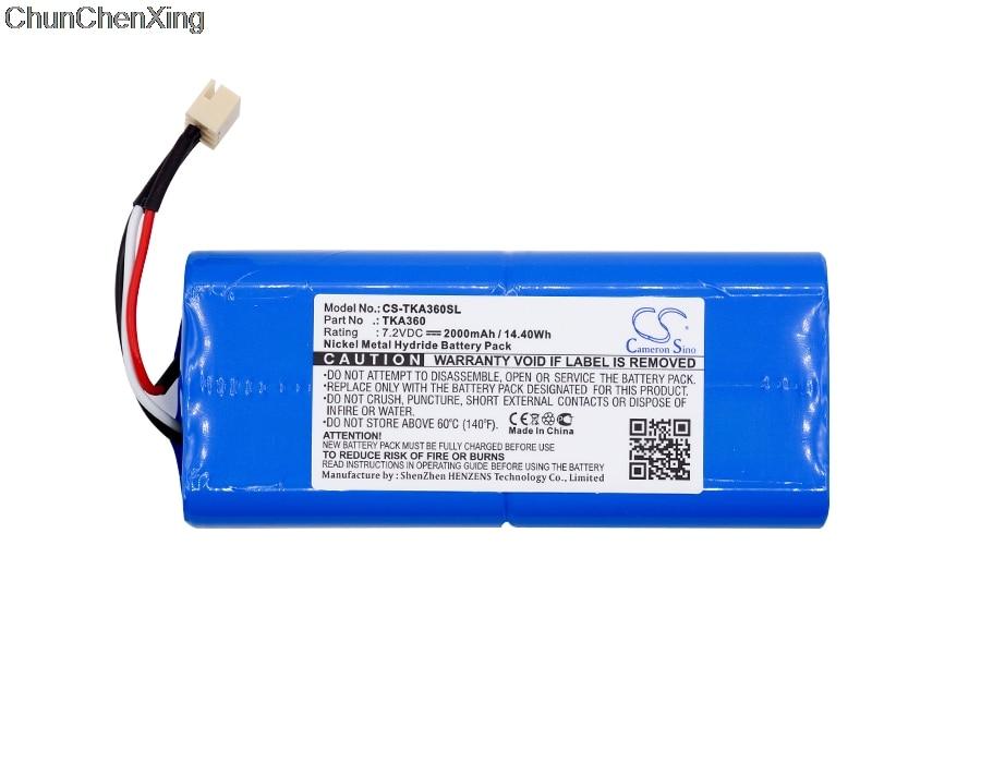 Batería de 2000mAh de 360 mAh para TDK Life, registro A360, vida útil en el registro Q35, sola