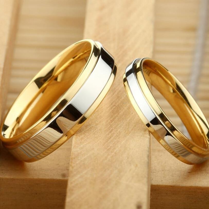 BOAKO, anillos de boda clásicos para enamorados, de acero inoxidable, para mujer, hombre, aniversario, fiesta de compromiso, regalo, joyería, anillo de tamaño 5 12 13 Z3