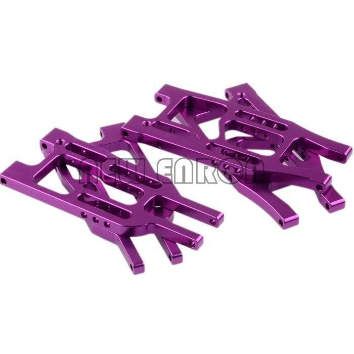 Alumínio roxo dianteiro & traseiro inferior suspensão braço conjunto hpi 110 bala 3.0 st/mt