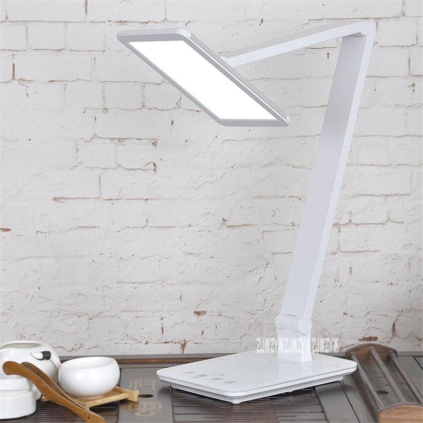Lámpara de escritorio LED regulable XG6001 de 12W, para el cuidado de los ojos, sensible al tacto, luz diurna, lámparas de escritorio plegables, lámparas de lectura, lámpara de dormitorio con puerto USB