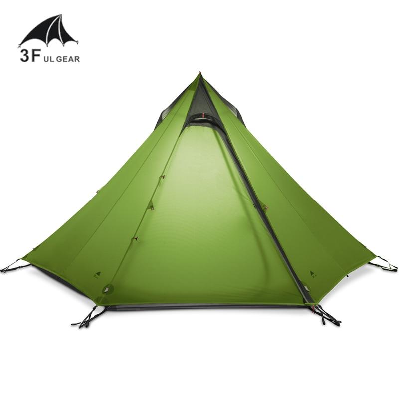 3F UL Gear CangYuan3 ultraligero 15D recubierto de silicona 2 a 3 hombre persona mochila carpa 3 temporadas para Camping senderismo