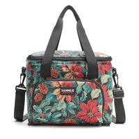 lunch tote bag portable thermal insulated lunch shoulder food bag large cooler picnic bags box for women men thermo bag