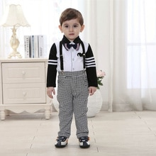 Boutique Kids Overalls Clothing Baby Names for Boys Clothes Set 4t Gentleman Imported-clothing Turn-