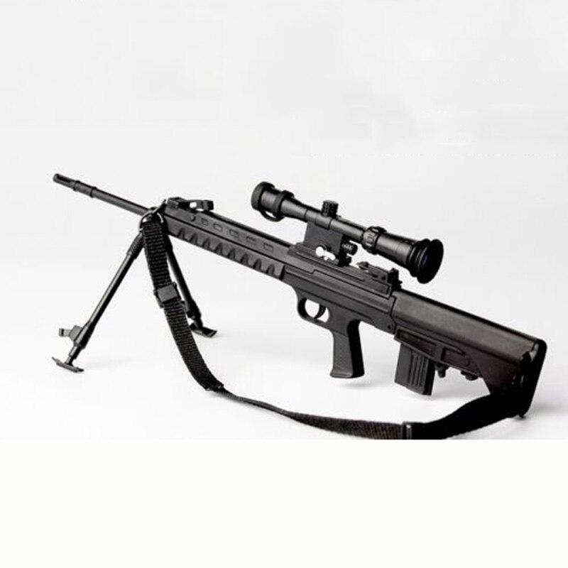 "1/6 Scale Mini Distressed Sniper Rifle Pistol Gun Model Toys For 12"" Action Figure Doll Accessory"