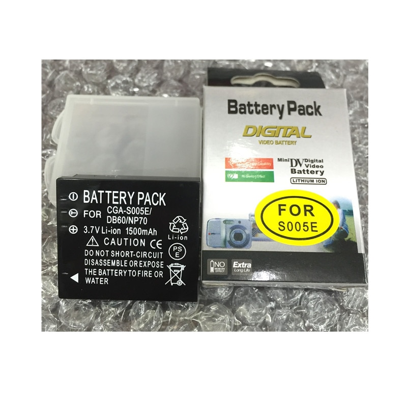 CGA-S005 S005 литиевые батареи CGA S005E DMW-BCC12 Батарея цифровой камеры для Panasonic Lumix DMC-FX180 DMC-LX1 LX3 FS1