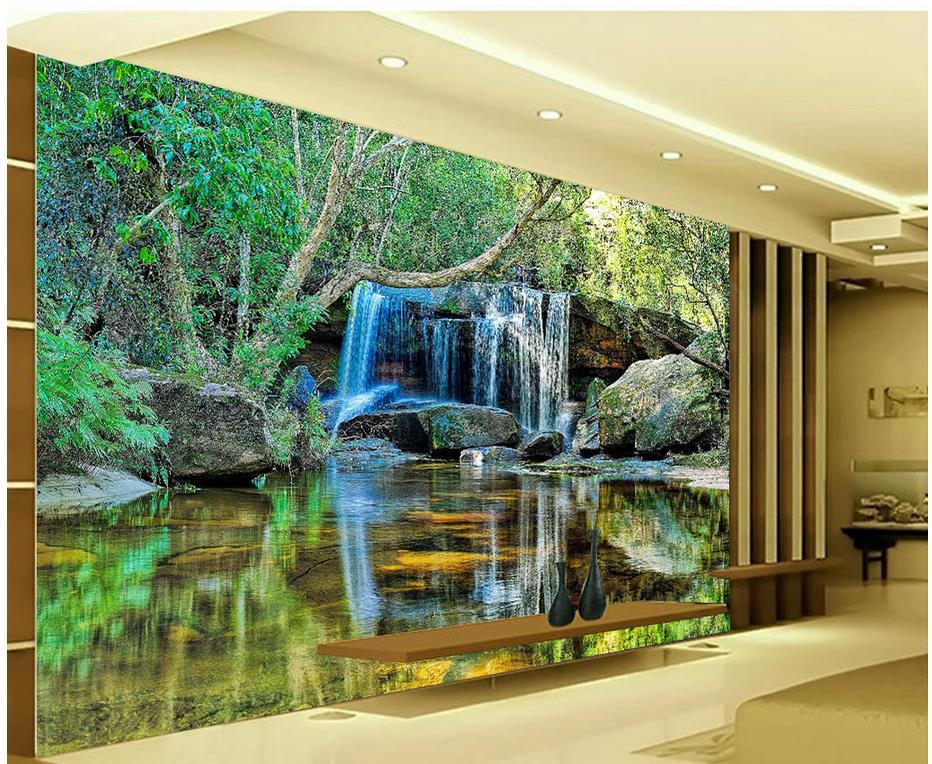 Papel pintado con paisaje en 3d, papel tapiz personalizado en 3d, fondos de pared de fotos, mural de papel tapiz en 3d