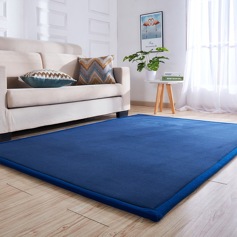 Alfombra gruesa para niños estilo japonés coral grueso alfombra de vellón mesita para café de sala de estar manta habitación cama cojín nuevo para el hogar