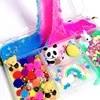 Mélange coloré nuage neige Slime spongieux Anti-stress enfants boue arc-en-ciel coton jouet pour Plasticine cadeau lapin Panda Slime jouet