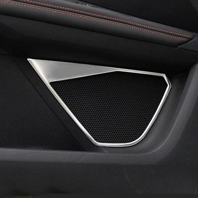 Cubierta de altavoz de puerta de acero inoxidable plateado para Peugeot 3008 GT 5008 GT 17-18