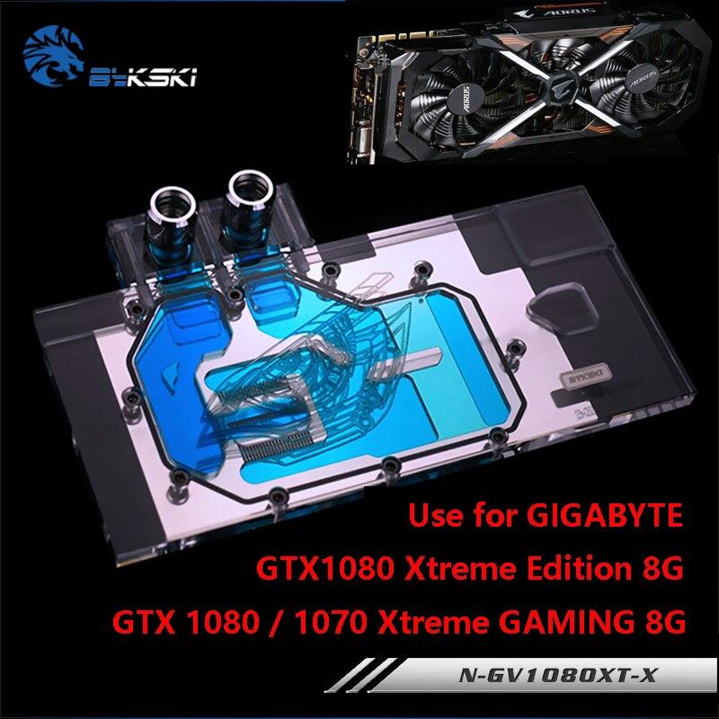 Bykski uso bloco de água para gigabyte gtx1080 xtreme gaming/N-GV1080XT-X/gtx1070 xtreme/gtx1070ti/cobertura completa bloco de cobre rgb