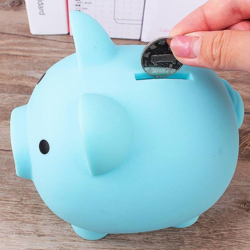 Ящик для хранения денег, безопасный Чехол, свинья, ролевые игры, копилки, банковские игрушки, синий, розовый, желтый, красный цвет
