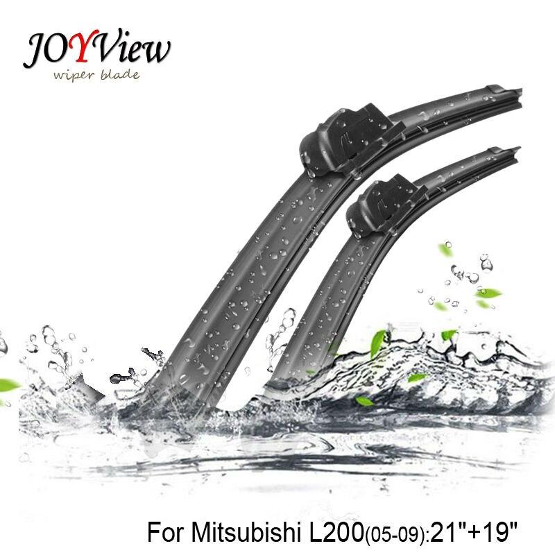"U-hook Size21""+19""Fit For Mitsubishi L200 (2005-2009)High Quality Windscreen Wipers Essuie glace Wiper stand"