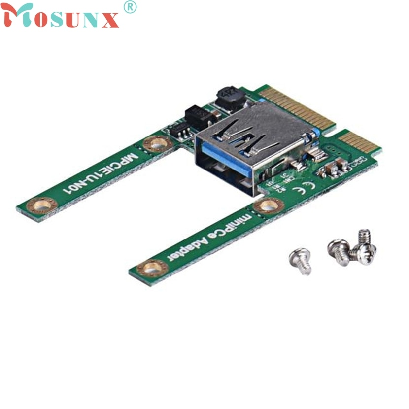 Mosunx Mecall Mini PCe USB 2,0 адаптер Mini PCI-E к USB 2,0 карте Бесплатная доставка