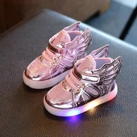 kid boys girls led shoes angel wings kids fashion shoes girls baby shoes glowing sneakers footwear for children sh008