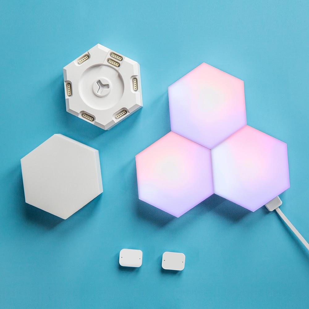 New Quantum Lamp DIY LED Night Light Creative Geometry Assembly Smart APP Control Google Home Alexa Bulb Lifesmart Cololight enlarge
