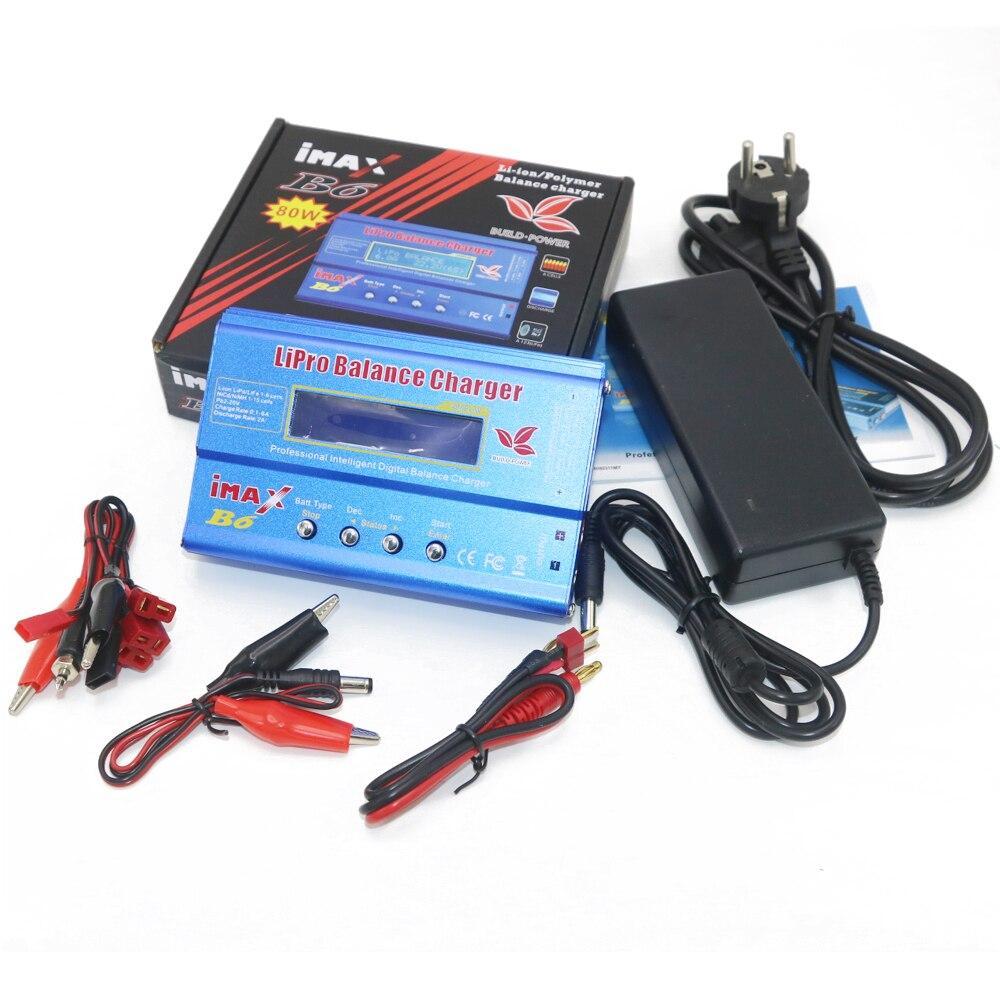 Cargador de batería iMAX B6 80W 6A Lipo NiMh Li-ion ni-cd Digital RC Balance cargador + 15v 6A adaptador de corriente + Cable de carga