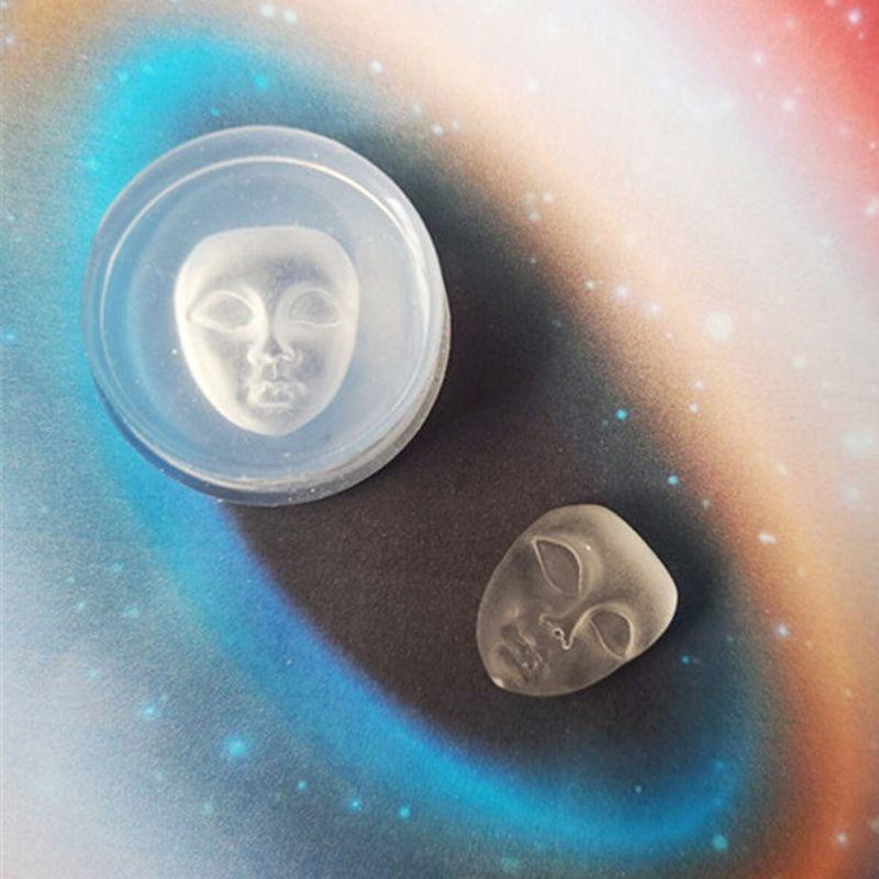 Colgante de cara humana, Molde de resina de silicona, jabón, cera, vela, molde, herramientas para hacer joyas