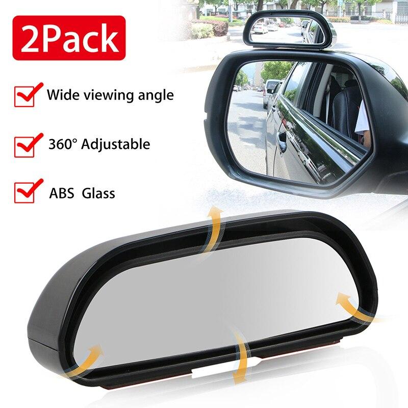 Espejos RVs, ángulo amplio de visión trasera para coche, punto ajustable para camión SUV, 2 uds, partes persianas universales, Última Noticia de motor, producto en oferta