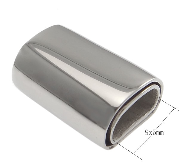 Aço inoxidável Fecho Magnético, Bonito, Rectângulo, cor oril, 18x13x8.50mm, Buraco Aprox 9x5mm, 10 Pçs/lote, Vendido Por Lote