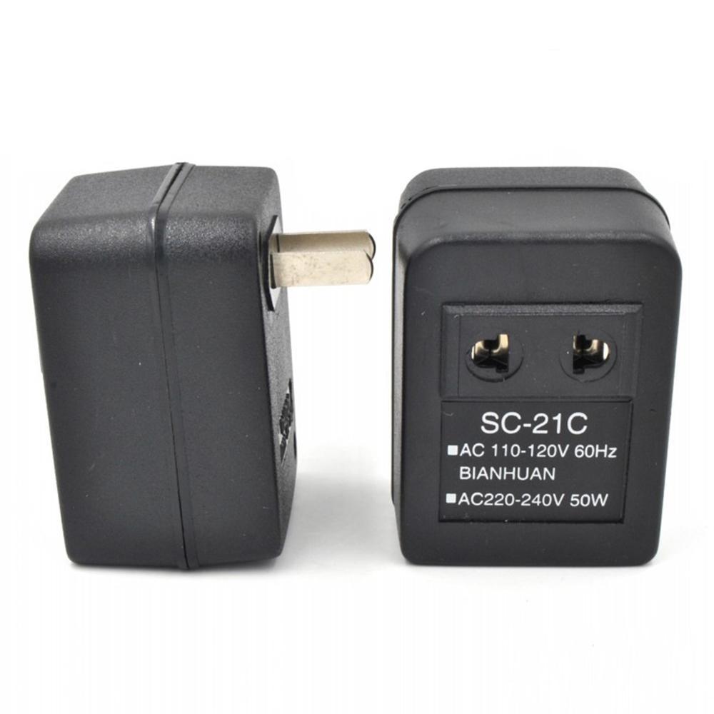 Gran oferta AC 20W convertidor adaptador de viaje transformador regulador 110V a 220V AC Voltaje de potencia convertidor LG66