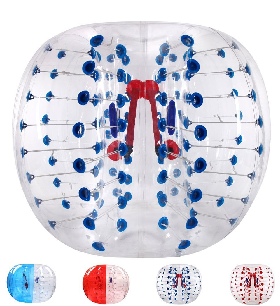 Burbuja para fútbol de PVC de 0,8mm 1,5 m de aire pelota de choque cuerpo Zorb bola burbuja de fútbol inflable, Bola del Zorb para fútbol