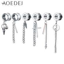AOEDEJ Plug & Tunnel Ear Piercings Stainless Steel Ear Plugs Piercing de orelha Ear Stretched Piercing Tunnels Expander penetran