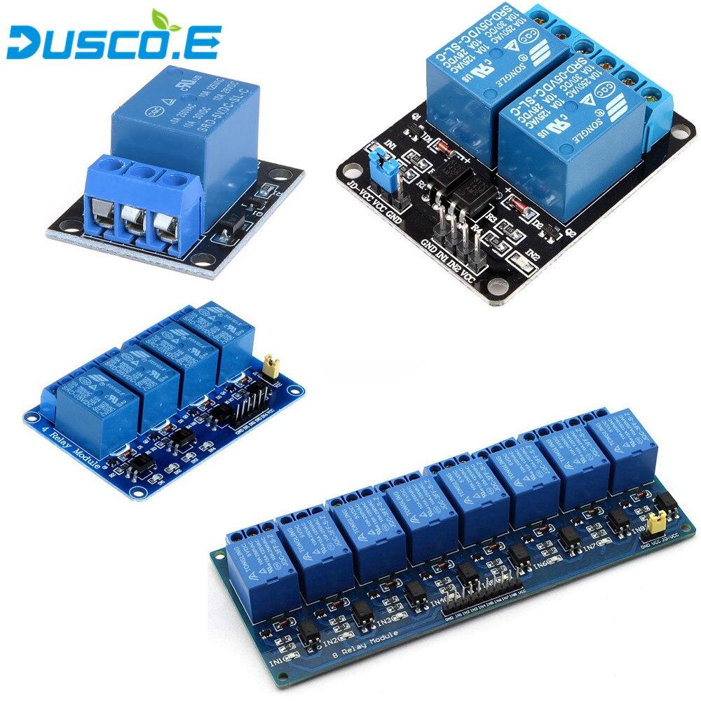 1 шт. 1 2 4 8 канальный 5 В релейный модуль щит с оптроном релейный выход 1 2 4 8 способ реле для Arduino Raspberry Pi 3