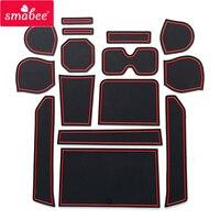 smabee Gate slot pad Car Mat Anti Slip For SUZUKI IGNIS Interior Door Pad/Cup 15CPS RED BLACK