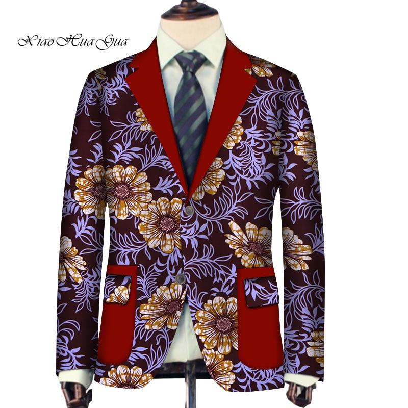 Chaqueta Formal personalizada para hombre, chaqueta elegante Africana Dashiki, ropa para hombre, traje de boda, Blazer, chaqueta, Tops, abrigo Casual WYN726