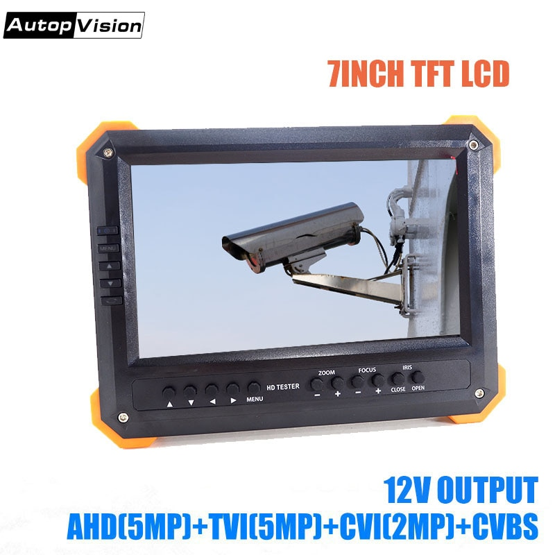 X41TAC CVI TVI AHD CCTV Tester 7 polegada LCD Áudio Video Security Tester CCTV Camera 12 V Saída de Monitor de Teste DHLfree envio